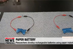 Scientists develop new battery out of paper