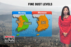 Fine dust blankets country,  mild temps