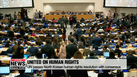 UN passes North Korean human rights resolution with consensus