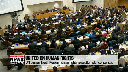 UN adopts resolution condemning N. Korea's human rights violations