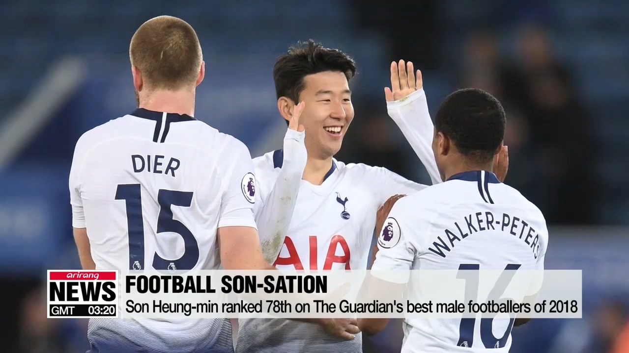 Son Heung-min ranked 78th on The Guardian's list of best male footballers of 2018