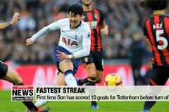 Tottenham's Son Heung-min scores his 9th, 10th goals of season in win against Bournemouth