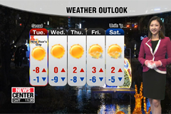 Cold wave continues on New Year's Day