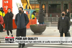 Fine dust levels high nationwide, dusty air expected to recover on Sunday