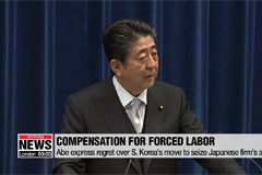 Japan PM Abe expresses 'regret' over S. Korea's forced labor ruling