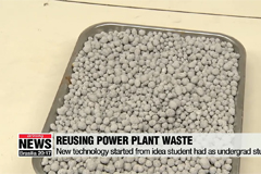 Korean student develops technology for recycling fly ash in concrete