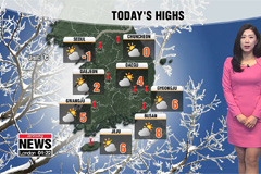 Cold snap returns, dry and sunny