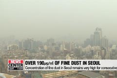 Concentration of fine dust in Seoul remains very high for second consecutive day