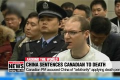 China sentences Canadian to death for drug smuggling as diplomatic row deepens
