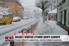 Deadly winter storms continue to grip central Europe