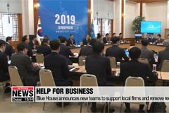 Presidential Office focuses on economy; Pres. briefed on economic policy direction for 2019 and calls for active followup measures to support local businesses