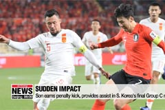 Son Heung-min back in action for South Korea in 2-0 win over China