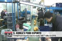 S. Korea's fresh produce exports rose 16.6% to US$ 1.3 bil. in 2018