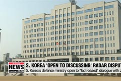 S. Korea's defense ministry 'open to dialogue' with Japan to resolve radar dispute