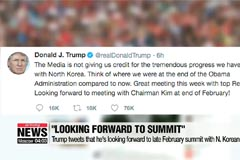 Trump tweets that he's looking forward to late February summit with N. Korean leader