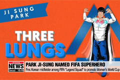 """Three Lungs"" Park Ji-sung selected as FIFA superhero to promote Women's World Cup"