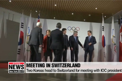 Two Koreas head to Switzerland for meeting with IOC president