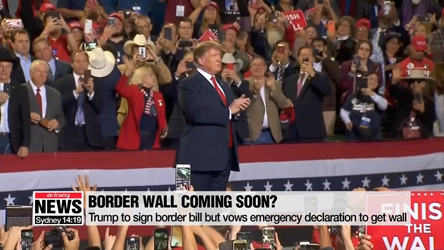 Trump to sign border bill but vows emergency declaration to get wall