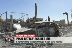 IS fighters hold civilians hostage in last Syria holdout