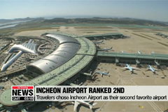 Incheon International Airport picked as travelers' second favorite airport