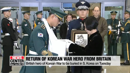 British hero of Korean War to be buried in S. Korea on Tuesday