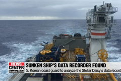 Explorers find data recorder of sunken S. Korean ship