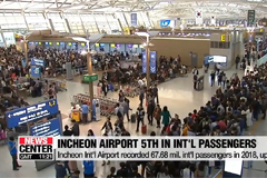 Incheon Int'l Airport ranked 5th in terms of int'l passenger numbers