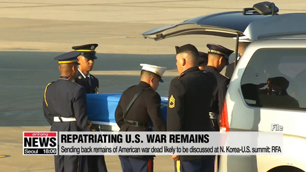 Sending back remains of American war dead likely to be discussed at N. Korea-U.S. summit: RFA