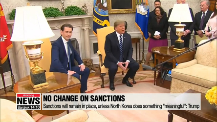 Trump says 'meaningful' steps need to be taken to lift sanctions, amid...