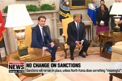Trump says 'meaningful' steps need to be taken to lift sanctions, amid hinting more summits with Kim Jong-un ahead