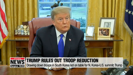 Drawing down troops in South Korea not on table for N. Korea-U.S. summ...