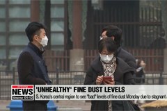 """S. Korea's central region to see """"bad"""" levels of fine dust due to stagnant air flow"""