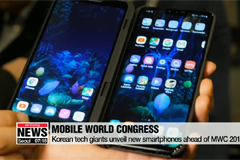 Korean tech giants unveil new smartphones ahead of MWC 2019