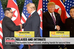 More intimacy and body language shown between Kim and Trump