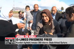 Kurdish fighters release 300 Islamic State-linked Syrians