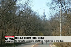 S. Korea to see some relief from high levels of fine dust