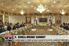Leaders of S. Korea and Brunei to pursue synergy in economic, diplomatic, social policies