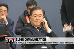 S. Korea, U.S. in close contact amid speculation over N. Korea's missile site activity