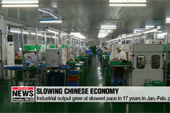 China's industrial output expanded at slowest pace in 17 years