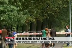 Murder charge for suspect in New Zealand mosque shootings that killed 50