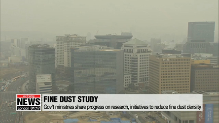 Up to 80% of ultra-fine dust in Seoul originates from overseas: gov't research