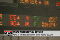 South Korea to cut stock transaction tax by June