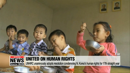 UN Human Rights Council adopts resolution condemning North Korea's human rights for the 17th straight year