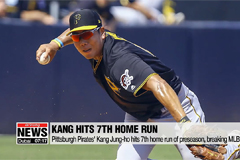 Pittsburgh Pirates' Kang Jung-ho hits 7th homerun of MLB preseason