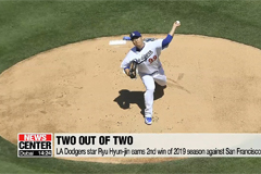 LA Dodgers Ryu Hyun-jin earns his 2nd win of MLB season
