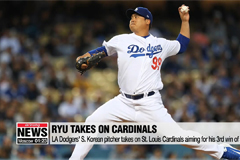 Ryu Hyun-jin takes to mound, aiming for third win