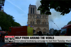 Wishes and donations sent to Paris after fire at Notre Dame Cathedral