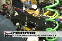 S. Korea's producer prices up 0.3% m/m in March: BOK