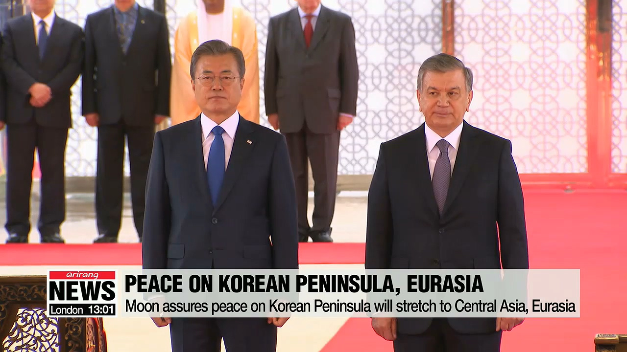 Leaders of S. Korea, Uzbekistan agree peace on Korean Peninsula, co-prosperity are connected