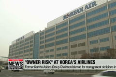 Korea's major airlines in trouble over 'owner risks'